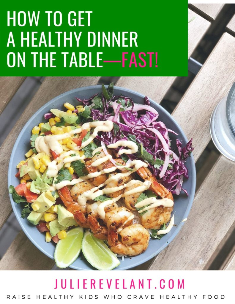 this free ebook explains how to get a healthy dinner on the table fast