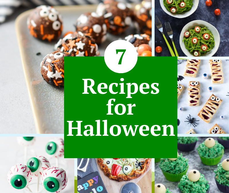 recipes for Halloween including recipes for Halloween treats